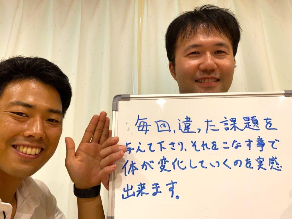 パーソナルトレーニングを受けたお客様の声|坂入修さん 35歳・自営業