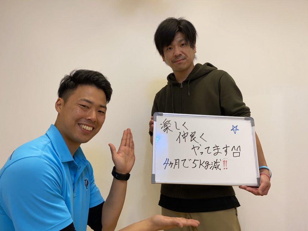 パーソナルトレーニングを受けたお客様の声/菊池優太さん 33歳男性・自営業