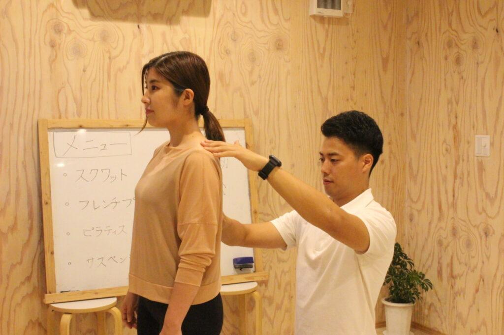 初回パーソナルトレーニング体験②身体の評価
